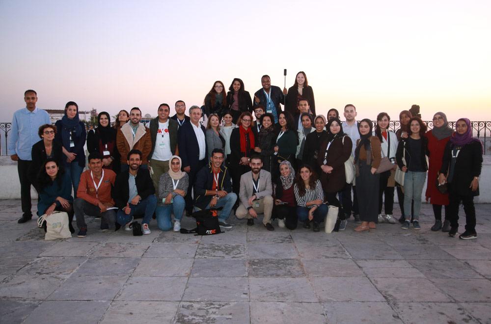 Participants au Mausolée de Sidi Bou Said © UNESCO