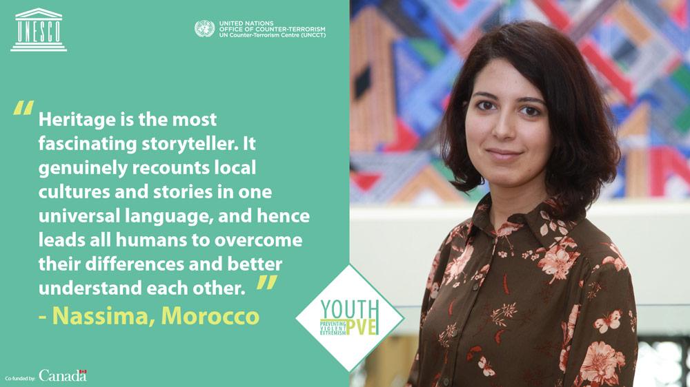 Nassima Chahboun, participante, partage ses vues sur le lien indéniable entre patrimoine et construction de la paix