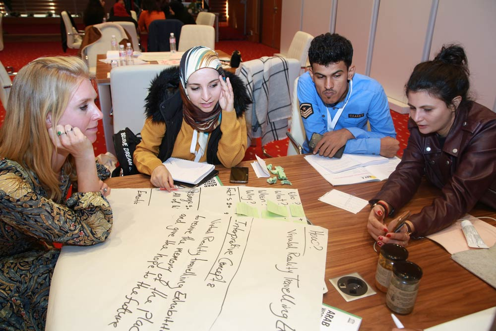 Participants presenting their Communication Plans to the other groups as well as the civil society organizations