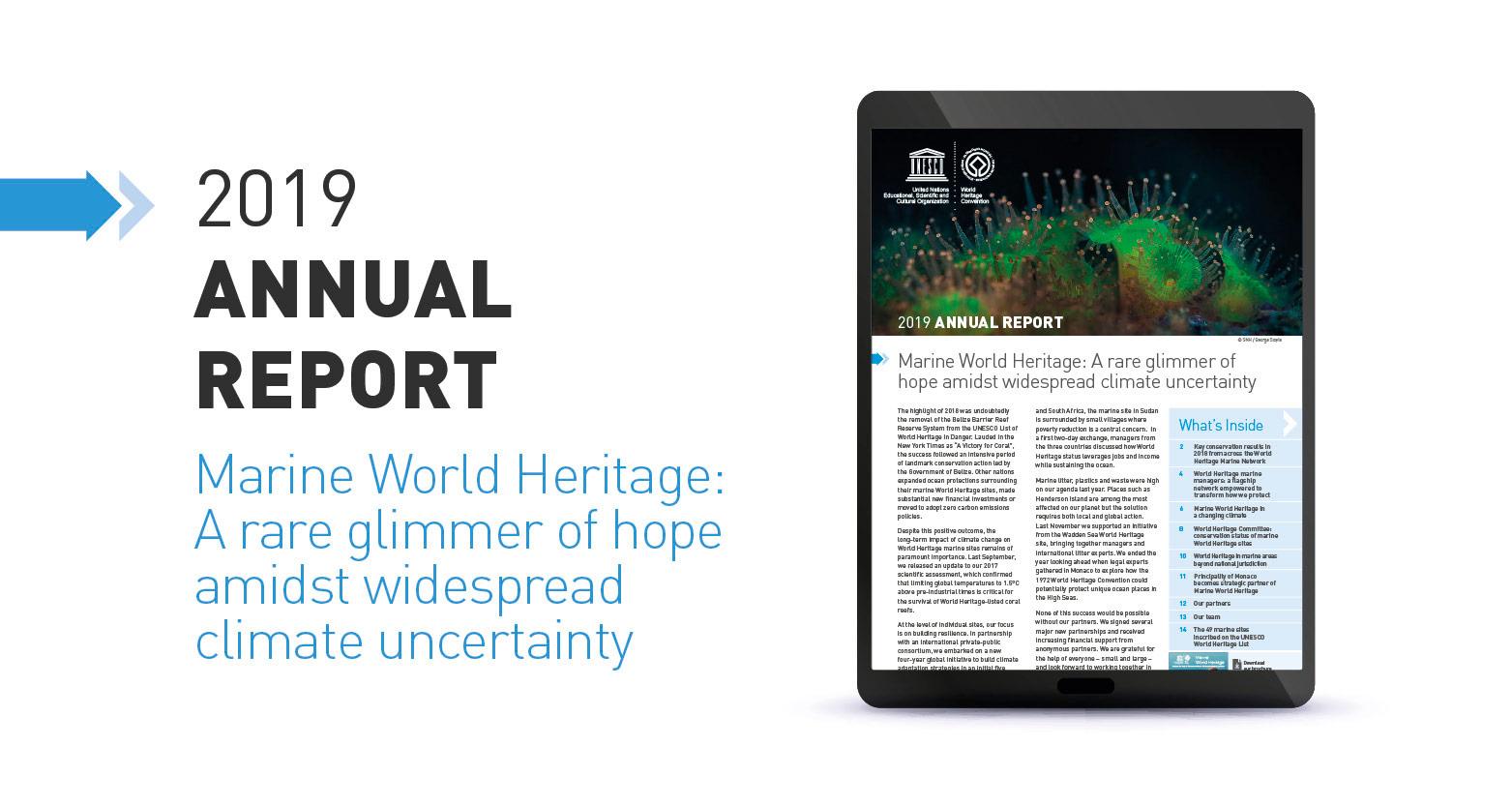 Marine World Heritage 2019 Annual Report - UNESCO World