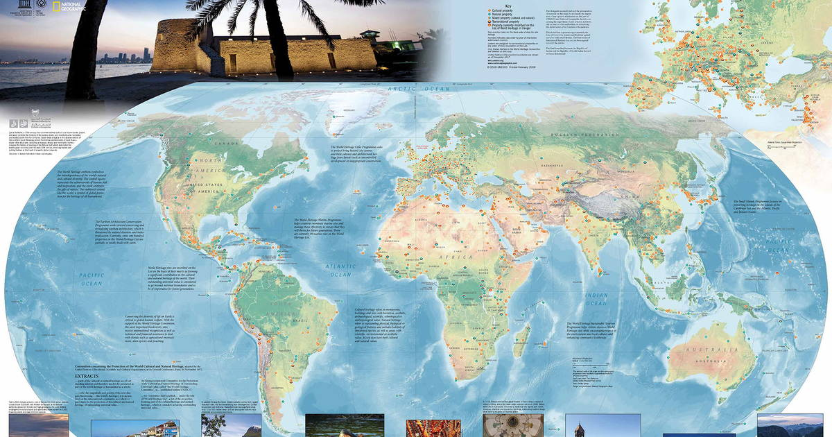Order the world heritage map unesco world heritage centre gumiabroncs Images