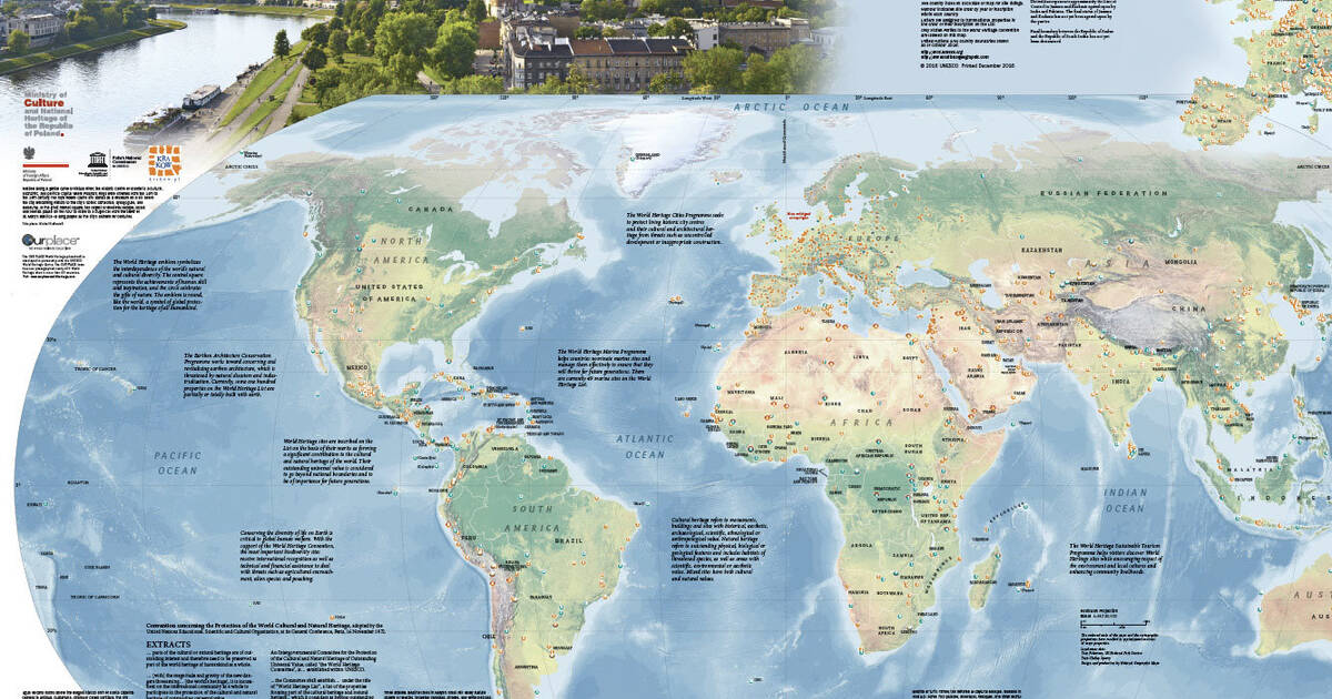 Unesco world heritage centre 2016 2017 world heritage map published gumiabroncs Gallery
