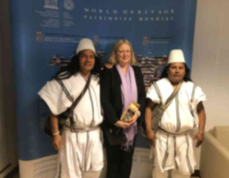 Leaders of indigenous communities from Sierra Nevada de Santa Marta, Colombia visit World Heritage Centre