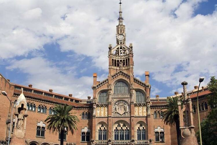 Palau De La Musica Catalana And Hospital De Sant Pau Barcelona