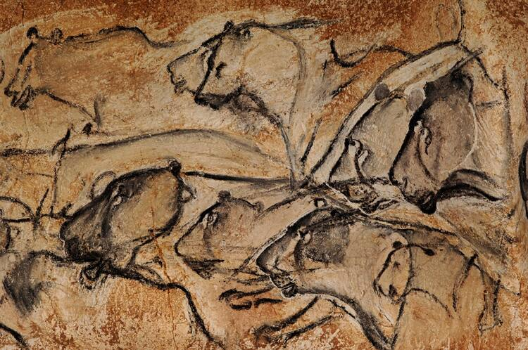 Caveman Art : Decorated cave of pont d'arc known as grotte chauvet
